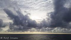 Evening sky (rjonsen) Tags: sky cloud sun sea ocean coast scotland
