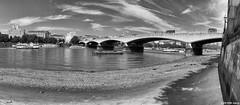 On Waterloo Bridge (peterphotographic) Tags: 20160824134937sefexedwm iphone 6s apple peterhall panorama nik silverefexpro2 blackandwhite bw monochrome waterloobridge riverthames london england uk britain city cityscape urban wendycope poem poetry