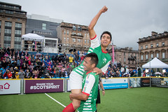 Homeless World Cup 2016 (Homeless World Cup Official) Tags: hwc2016 homelessworldcup aballcanchangetheworld thisgameisreal streetsoccer glasgow soccer mexico celebration action final scotland
