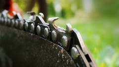 Chainsaw (M.patrik) Tags: chainsaw chain blur detail wood fillings green bokeh