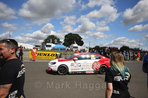 Josh Cook's car during the Grid Walks at the BTCC 2016 Weekend at Snetterton