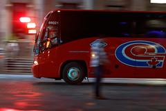 Night-panning (Besisika) Tags: night panning old montreal car bus canada street