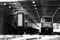 Home at Last (Coolcats100) Tags: 442 canon coolcats100 canon650d train trains 73 swt gatwick third rail railway bournemouth dorset 2016 august black blackwhite blackandwhite bahn 442415 442418 2418 2415 bw building shed