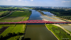 Train bridge Zwolle (Thomas Bartelds Photography) Tags: hattem gelderland nederland nl zwolle hdr dji phantom drone brigde water