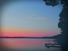 The V (clarkcg photography) Tags: sunrise sun early morning dawn dock water sky blue orange red purple cloud v