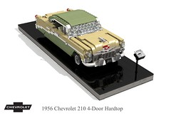 1956 Chevrolet 210 4-Door Hardtop (lego911) Tags: chevrolet chevy chev 1956 210 1960s 4door hard top hardtop classic 1950s trifive auto car moc model miniland lego lego911 ldd render cad povray lugnuts challenge 107 saturdaymorningshownshine saturday morning show n shine usa america v8 chrome foitsop