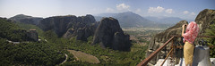 Panoramic views from monastery of Meteora (bernat.rv) Tags: meteora mountains rocks bosque montaas rocas forest views vistas panoramic panoramica taking picture