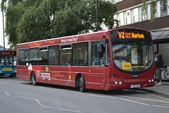 Trent Barton 675 FJ55AAU (Will Swain) Tags: burton upon trent 1st september 2016 bus buses transport travel uk britain vehicle vehicles county country england english midlands midland town centre barton 675 fj55aau