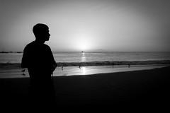 My liquid horizon - Unreachable #6 (Izzy Lara) Tags: bw beach sun ocean landscape wave