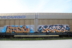 Rolling stock (Thomas_Chrome) Tags: graffiti streetart street art spray can moving rolling target stock freight train vr cargo illegal vandalism suomi finland europe nordic