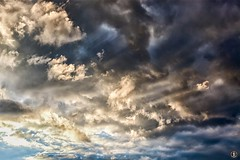 Cloud cover (FunkyPorcupine) Tags: canon clouds cloudy cloud sky dark darkness sunset outdoor meteorology sunlight