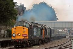 The Independant Yorkshireman (mike_j's photos) Tags: class37 37603 37604 class57 57309 drs directrailservices virgin train scarborough railtour charter nikon 1z39 railwaymagazine independantyorkshireman clag