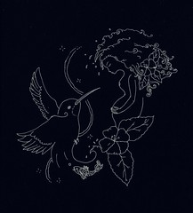 (Mango*Photography) Tags: giulia bergonzoni tattoo artist tattoos black white pregnancy baby lotus birth hummingbird custom fashion illustrations illustrators holy water