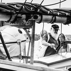 Trying a Hand at the Wheel (wordsmith_Cornwall) Tags: tallships brockvilleontario beardedman