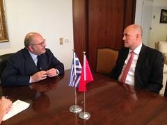 , . ,      , K. Uras (, 23.09.16) ( ) Tags:     xydakis mfaofgreece turkey ambassador kerim uras athens