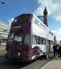 20160925 Blackpool 719 tram (blackpoolbeach) Tags: blackpool tram streetcar 719 balloon modernised tramway doubledeck donnasdreamhouse