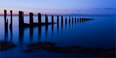 Minnis Bay (Roger Nolan LRPS) Tags: groyne kent kentcoast minnisbay sea sunset