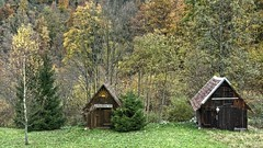 Hay Sheds of Murg Valley 01 (MJWoerner49) Tags: blackforest hut murgtal murg murgvalley northernblackforest gernsbach reichental forbach gausbach barn shed hay haybarn hayshed autumn