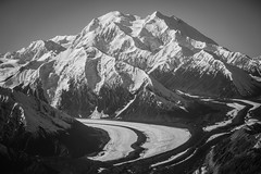 The High One (West Leigh) Tags: denali alaska nature naturalbeauty nationalparks mountains mountaineering adventure dream discover explore experience wanderlust wander climb hike glacier water wilderness wild blackandwhite canoneos7d muir