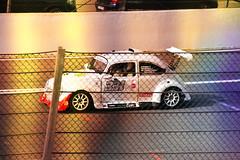 VW en cage (philippejeanne) Tags: vw volkswagen coccinelle beetle leaderracing leader racing course race voiture automobile car circuit francorchamps spa moteur lumire kermesse