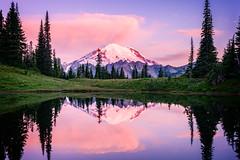Tipsoo Dawn (jd_hiker) Tags: mountrainier usa mountrainiernationalpark washington tipsoolake sunrises mountains subject landscape sun places nationalparks