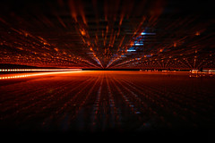 Event Horizon by Simon & His Camera (Simon & His Camera) Tags: light orange abstract art lines dark simonandhiscamera