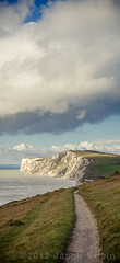 The Tennyson Trail - Coastal Footpath to Freshwater Bay (s0ulsurfing) Tags: uk november blue light england sky cliff cloud sunlight english grass lines weather clouds composition rural canon vintage skyscape walking island coast chalk skies britain pov path walk patterns perspective blues cliffs nostalgia coastal vectis isleofwight cumulus convergence coastline british footpath isle depth wight foreground 2012 converge coastalpath expanse westwight leadinglines freshwaterbay tennysondown s0ulsurfing welcomeuk