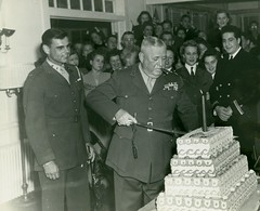 Clayton Vogel Cuts Cake on Marine Corps Birthday, 1943 (Marine Corps Archives & Special Collections) Tags: birthday marine clayton corps marines vogel