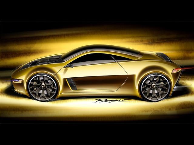 Эскиз золотой машины