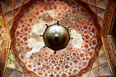 The sky is the limit (A&M - Photography) Tags: sky india art monument century painting gold site paint heaven king muslim islam prayer tomb great decoration agra kings era stunning burial 17 16 akbar mughal