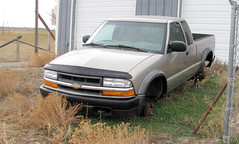 My Old ZR2 After Falling off Blocks (Eyellgeteven) Tags: old chevrolet gm 4x4 farm pickup pickuptruck chevy s10 madeinusa americanmade fourwheeldrive chev generalmotors zr2 outtopasture blownengine onblocks blownmotor eyellgeteven