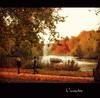 L'incontro (in eva vae) Tags: autumn red orange lake tree london fall yellow squared inevavae