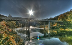 """Shine on"" (Nick Stewart2) Tags: bridge gloucestershire remembranceday fod forestofdean riverwye shineon 11thnovember brockweir"