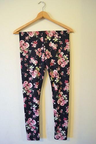 floral fashion leggings haul