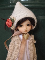 Feather (*alexisbears*) Tags: girl knitting sewing feather hiro mori elfdoll tinydoll alexisbears
