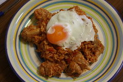 Nasi Goreng - Indonesian Fried Rice.. (dinner) (Michelle ~ Blacky ~ Champaz's Captures....) Tags: chicken rice tomatoes eggs spicepaste