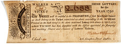 1795 Lottery Ticket (National Library of Ireland) Tags: ireland dublin gambling ephemera lottery walker graftonstreet lotteryticket leinster disraeli 1795 1790s nationallibraryofireland irishlottery ephemeracollection marygaynor leinsterlottery 105graftonstreet disraell