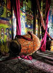 Ceremonial Drum, Ethiopia (Rod Waddington) Tags: africa lake church mud drum round ethiopia tana orthodox ethiopian ceremonial