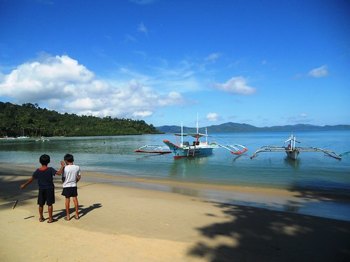 Saturday morning in Port Barton, San Vicente, Palawan, Philippines. Photo by Mary Aileen M delas Alas, 2011.