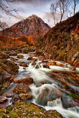 Buachaille Etive Mor (mark_mullen) Tags: longexposure autumn mountain snow mountains water river scotland highlands movement stream colours beck glencoe munro buachailleetivemor canon1740f4 argyllandbute thebeuckle thebuachaille canon5dmk3 markmullenphotography