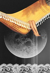 I crave space. (// P*) Tags: moon art collage vintage lace egypt cairo