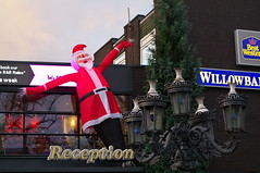Willow Bank Hotel (kh1234567890) Tags: uk england manchester hotel pentax inflatable fatherchristmas 1855mm fallowfield wilmslowroad k7 willowbank smcpentaxda1855mmf3556alwr smcpda1855mmf3556alwr