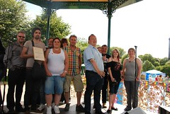 "Award on the Bandstand<br /><span style=""font-size:0.8em;"">The CAHG's award for Most inspirational archive of the year being present on the bandstand</span> • <a style=""font-size:0.8em;"" href=""https://www.flickr.com/photos/66700933@N06/8193135118/"" target=""_blank"">View on Flickr</a>"