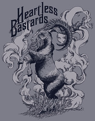 Wind in the Wheat (HookieDuke) Tags: illustration screenprint wind wheat horns goat apparel heartlessbastards