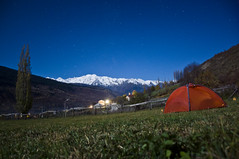 Camping in Svaneti (Brave Lemming) Tags: travel camping autumn wild sky panorama mountains nature night georgia stars landscape scenery tent adventure caucasus paysage touring easterneurope biketour montagnes eurasia sakartvelo worldtravel bicycletour caucase საქართველო svaneti caucasius expedvenusii bravelemming