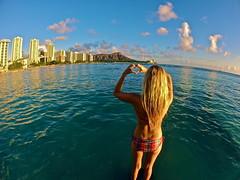 Infatuation (PulsiPictures) Tags: ocean life light sunset 3 tourism beach island hawaii islands golden model university waikiki oahu head diamond diamondhead hawaiian hotels reef swimsuit uh calais manoa leahi uhm hilife 808