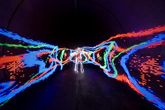 Me (Cazzo3) Tags: longexposure lightpainting tunnel dlw digitallightwand