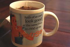 Cup Of Tea (Mar10ne) Tags: cup coffee girl vintage funny tea quote picture mug haha cupoftea hotdrink lemontea