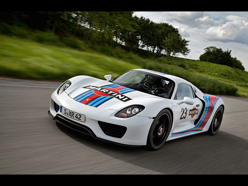 2012 Porsche 918 Spyder Martini Racing Design . Stuttgart. Driving trials of the Porsche 918 Spyder are entering the next phase. A permanent fixture of the test programme for the 918 Spyder – and in the tuning process for all Porsche vehicles – is the 20.