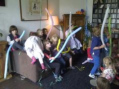 Kinderfeestje met slangen
